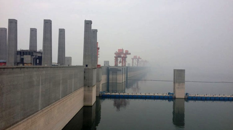 The Three Gorges Dam.