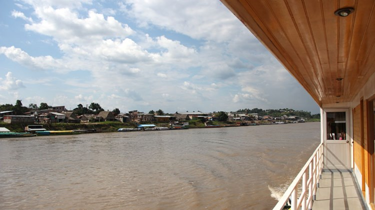 The Amazon River town of Nauta, as seen from a deck on the Queen Violetta.