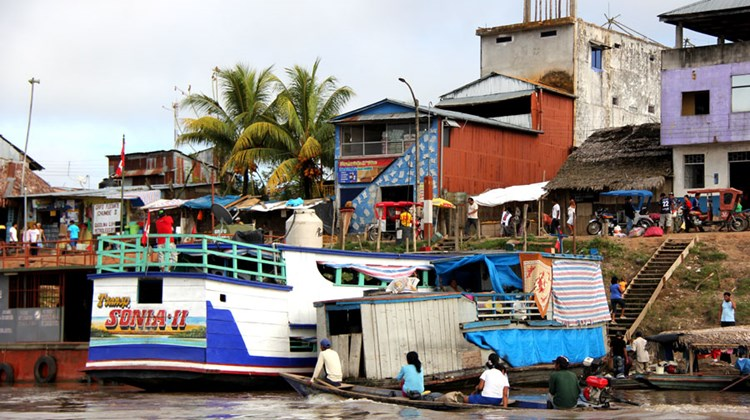 Activity along the banks of the Amazon town of Nauta.