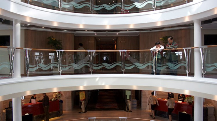 The open atrium on the Century Paragon.