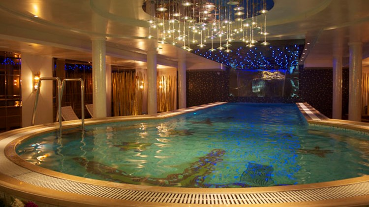 The indoor swimming pool onboard the Century Paragon.