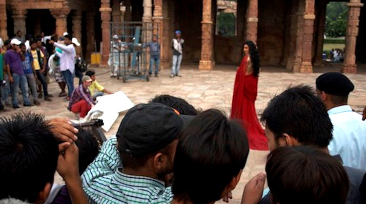Travel Weekly's Michelle Baran cruised on the Bengal Ganga along India's Ganges River on a scouting expedition of sorts with Breckenridge, Colo.-based Haimark in partnership with Indian company Heritage Cruises ahead of the 2015 launch of Haimark's 56-passenger Ganges Voyager. On day one of the Haimark journey through India, the group stumbled upon a Bollywood movie being filmed at the Qutab Minar mosque complex in Delhi. Photos by Michelle Baran; posted Oct. 16, 2013.