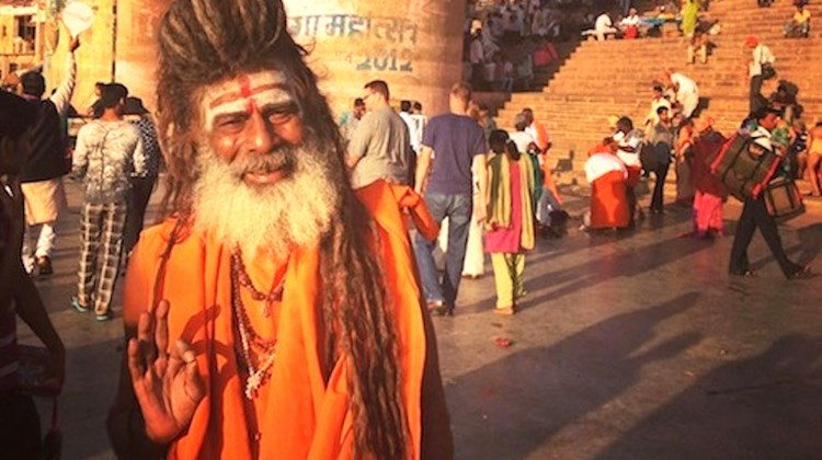 A holy man in Varanasi.