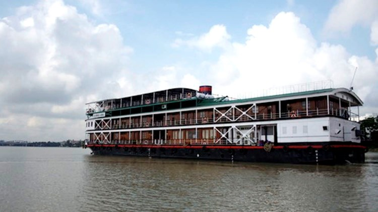 The 56-passenger Bengal Ganga, the group's home for one week as they traveled up the Lower Ganges.