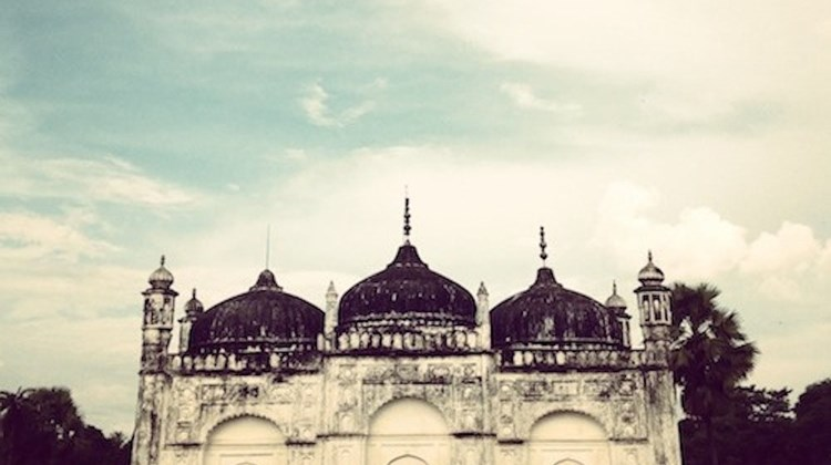 Khushbagh, a mosque and cemetery known for being the burial place of the family of the Nawabs of Bengal.