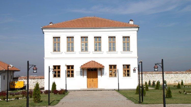 The guesthouse (slated to be a museum) on the grounds of Sultan Murat I's tomb. The sultan was killed in the 1389 Battle of Kosovo.