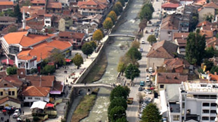 View of Prizren, in southern Kosovo, as seen from the city's hilltop fortress.