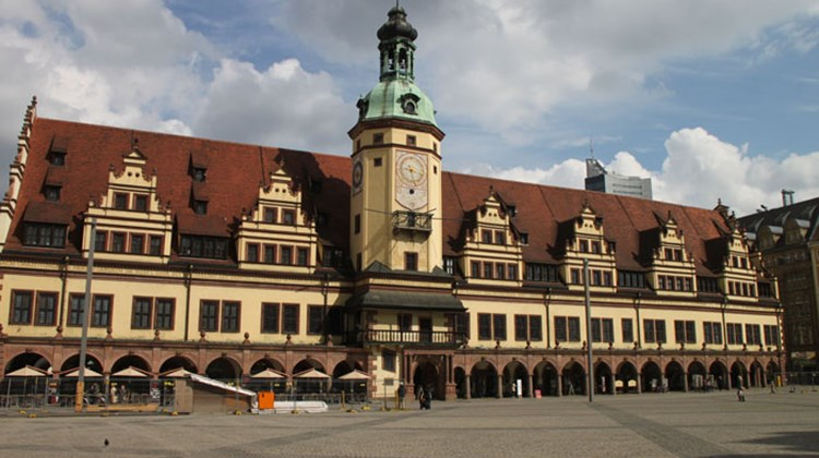 The 16th century Old Town Hall in Leipzig, on the Market Square.