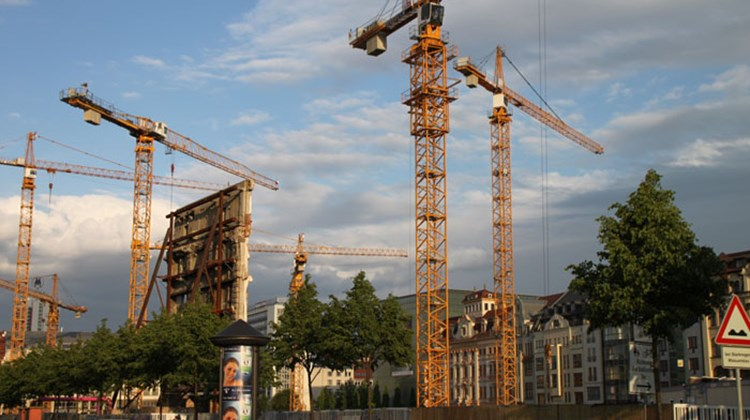 "There's ""a lot going on"" in Leipzig in the way of construction, as evidenced by this site, photographed in 2011, next to the Old Town."
