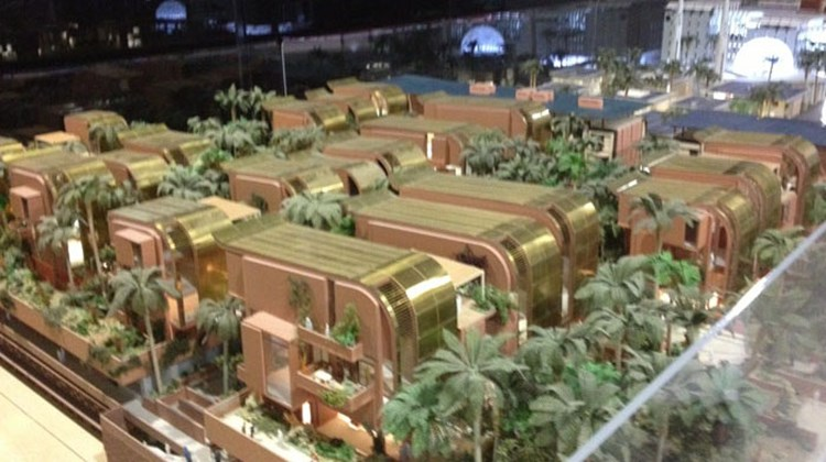 A model showing what Masdar City will look like upon completion.