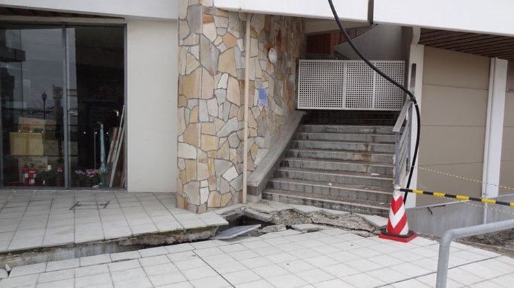 Damage at the Matsushima bus station. The waterfront station is being rebuilt. Photo by Johanna Jainchill