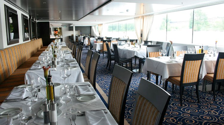 The ship's main restaurant