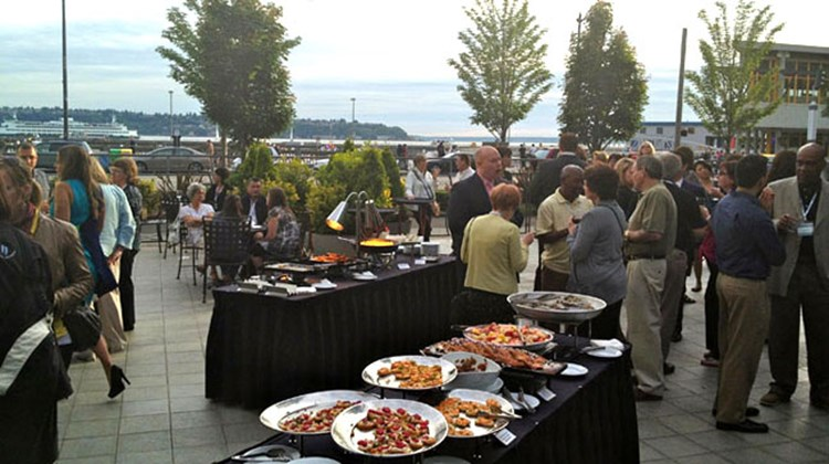 Norwegian Cruise Line hosted a reception at Seattle's Marriott Waterfront for travel agents as part of Norwegian's Partners First Weekend. Photo by Johanna Jainchill