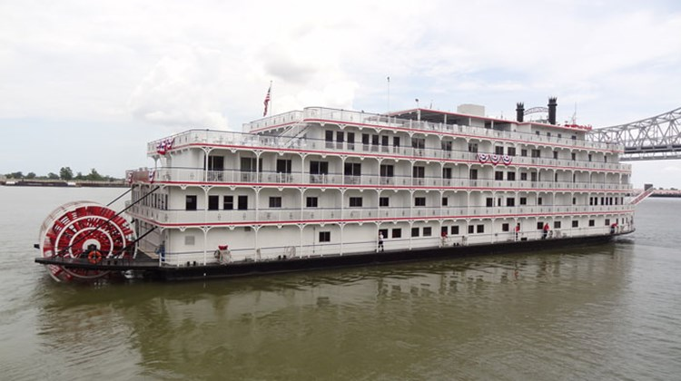 American Cruise Lines' Queen of the Mississippi departed New Orleans on Aug. 4 making it the first new paddlewheeler to sail the Mississippi in 17 years. Photos by Johanna Jainchill; posted Aug. 8, 2012.