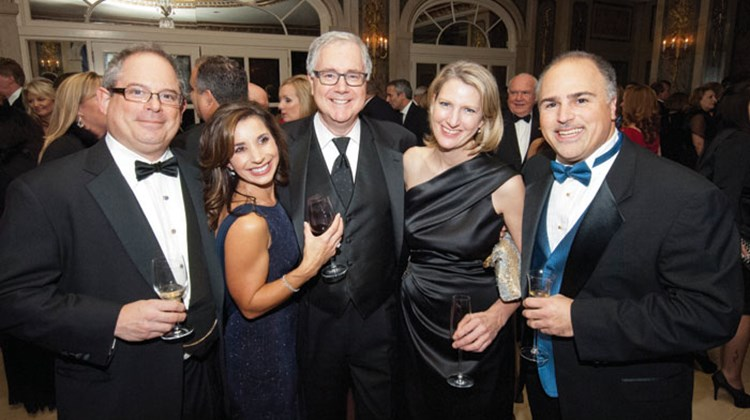 From left, Eric Goldring, owner of Goldring Travel; Joanne Schimelman, vice president of sales and national accounts for Royal Caribbean International; Lindsay Pearlman, co-president of Ensemble Travel; Libbie Rice, co-president of Ensemble Travel; and Brian Chapin of Ensemble Travel.
