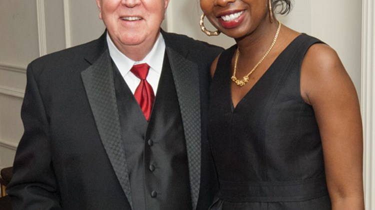 Bruce Beckham, Tourism Cares CEO, and Sabine Toussaint, Haiti program adviser for the Clinton Foundation.