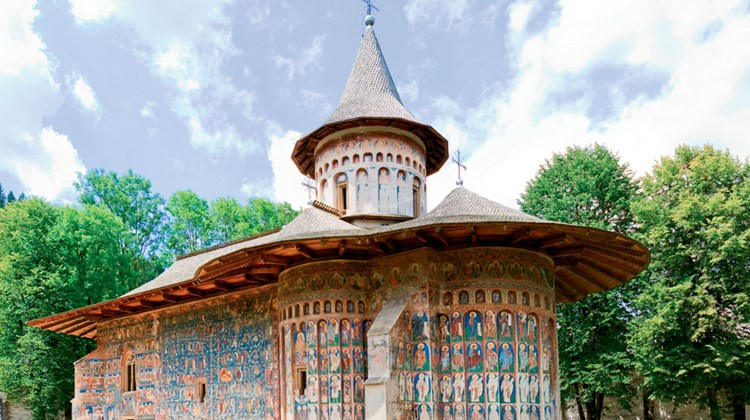 Voronet Monastery, in the village of Voronet, was built in 1488 and is a Unesco World Heritage site. Photo by Mihai Cristian Zaharia/Shutterstock