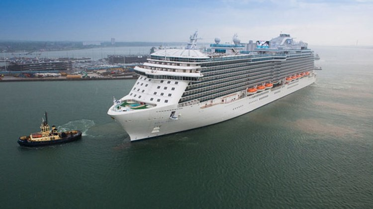 The $735 million Royal Princess arrived in Southampton June 7 for the festivities.