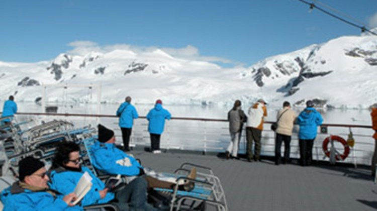 Downtime on the Hurtigruten Fram during an Antarctic cruise.