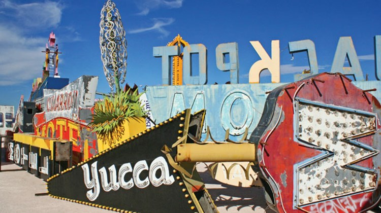 For the first time, visitors to Las Vegas can take guided tours at the Neon Museum, which recently opened a new visitors center and began offering tours of its Neon Boneyard, a two-acre outdoor space home to more than 150 signs dating from the 1930s through today. Prior to October, guests could only tour the Boneyard by making reservations in advance. Photos courtesy of the Neon Museum; posted Feb. 20, 2013