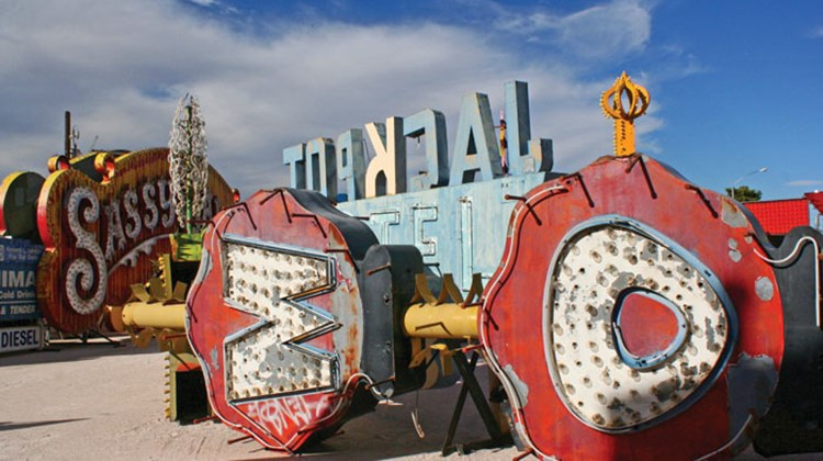 Another view of the Neon Boneyard.