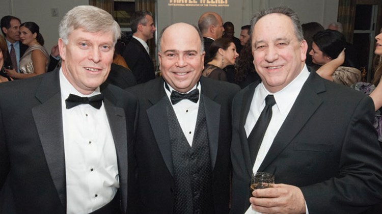 From left: Maurice Honor of Hertz Global Holdings; Charles Gallina of American Express Vacations-International and Ted Papps of Apple Vacations.