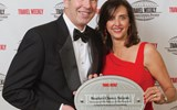 Dan Hanrahan and Dondra Ritzenthaler of Celebrity Cruises, which won awards in three categories.