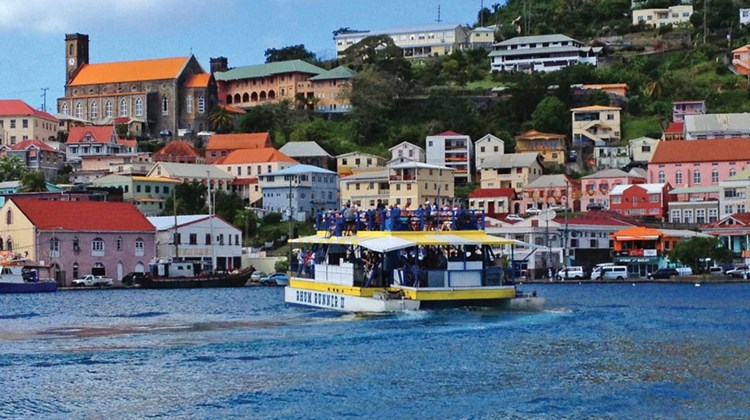 The harbor of Grenada's capital of St. George's is one of the most picturesque in the Caribbean.