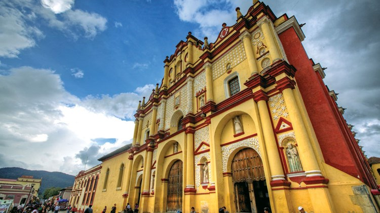 The Cathedral of San Cristobal de las Casas in the state of Chiapas.