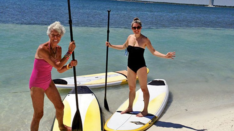 Mexico editor Gay Nagle Myers and her daughter Jenn were novices in the sport of SUP (stand up paddle boarding), but discovered a fun and fairly easy sport in the process.