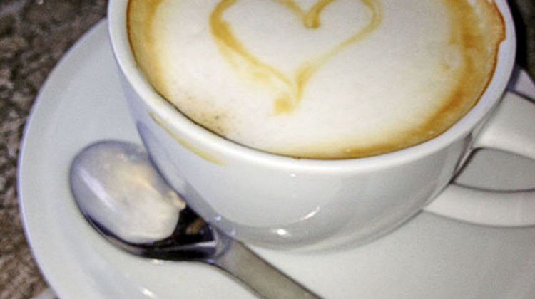 An order for cafe con leche (coffee with milk) carried a foamy, affectionate message from the chef.