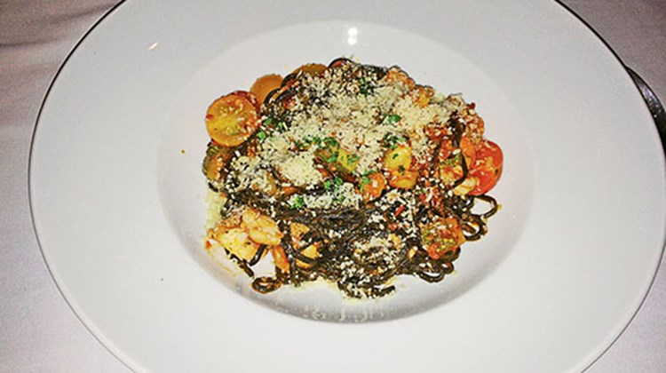 Squid ink pasta was another of the unusual and tasty items on the menu at Nizuc Resort & Spa.