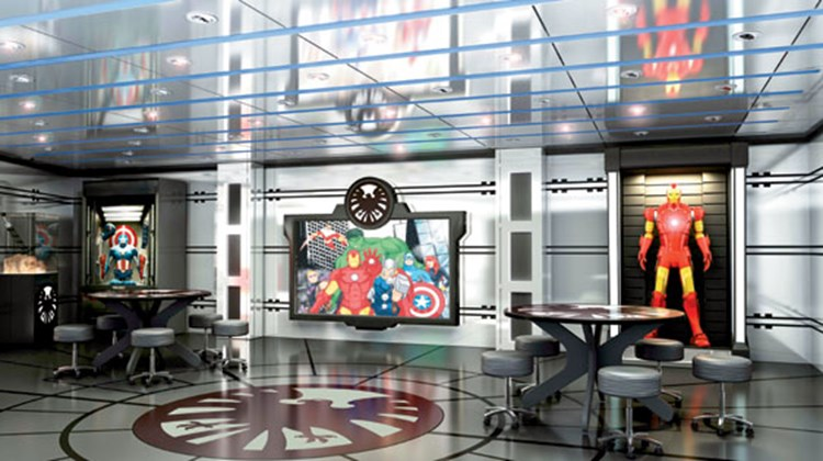 The children's play areas will be redone, in part to accommodate Disney's acquisition of Marvel Entertainment, whose stable of superheroes, including the Avengers, will be represented for the first time at sea on the Disney Magic with the Avengers Academy in Disney's Oceaneer Club.
