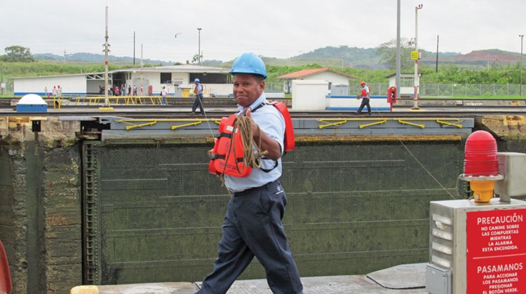 A Panama Canal worker. The canal's workforce numbers about 9,000.