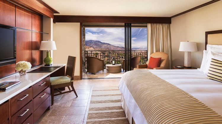 All rooms at the Ritz-Carlton, Rancho Mirage have mountain and desert views.
