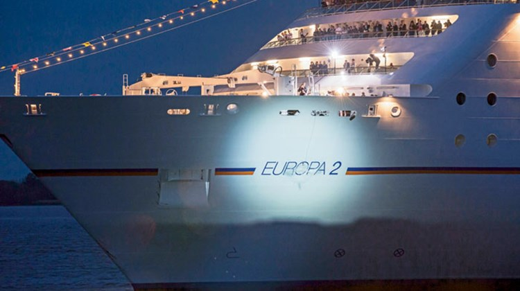 In May, Hapag Lloyd Cruises named the Europa 2 in Hamburg, Germany.
