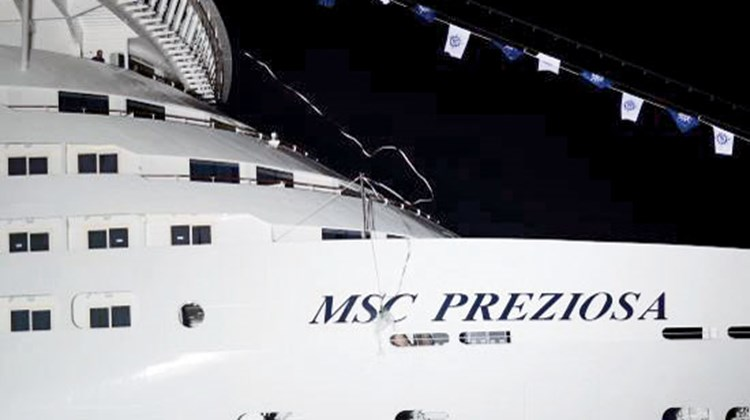 The dedication of the MSC Preziosa in Genoa, Italy.