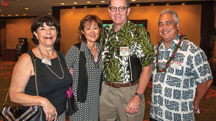 Terryl Venci of the Maui Visitors Bureau, Amy Terada of Pleasant Holidays, John Monahan of the Hawaii Visitors and Convention Bureau and Mike McCarthy of the Hawaii Tourism Authority.