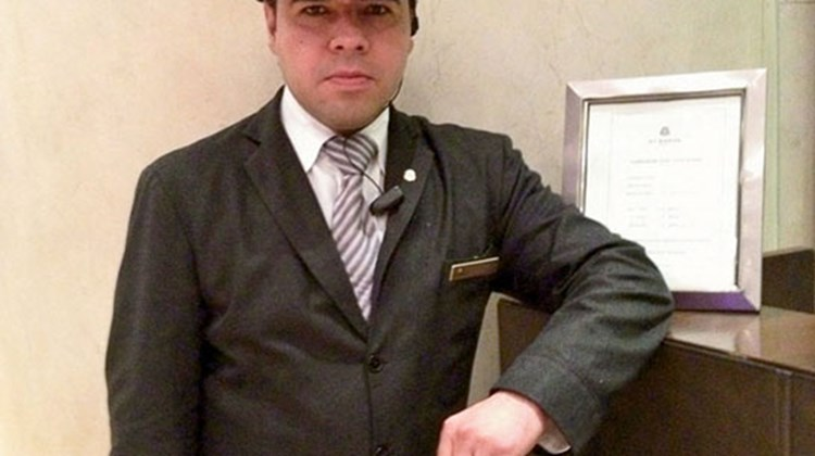 Doormen at the St. Regis Mexico City dress in top hats and formal wear. TW photo by Gay Nagle Myers