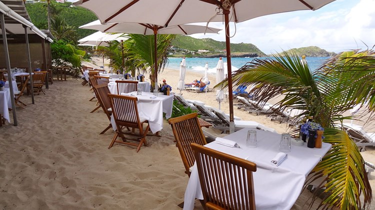 Travelers face a dilemma when planning a visit to St. Bart's, arguably the most exclusive and upscale island in the Caribbean: whether to rent a villa or stay in a hotel. No matter the choice, in St. Bart's, the accommodations are certain to be unique. Pictured here, the beachfront restaurant at St. Bart's Isle de France hotel. Photos by Johanna Jainchill; posted Oct. 30, 2013
