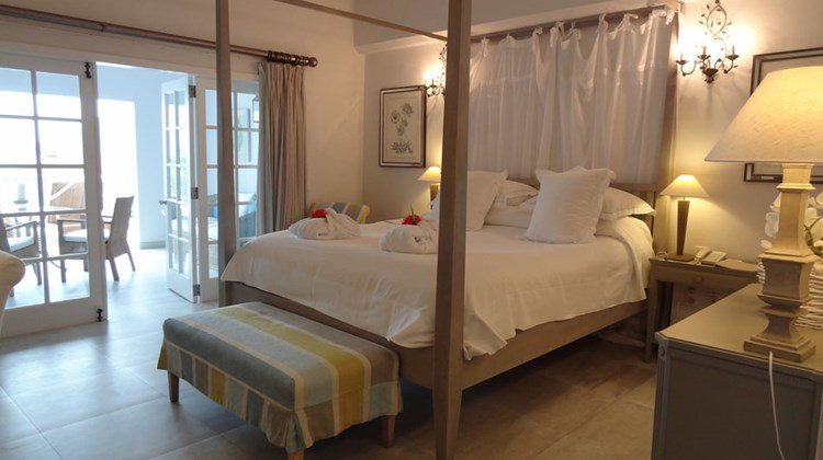 A recently renovated, ocean-view room at Isle de France.