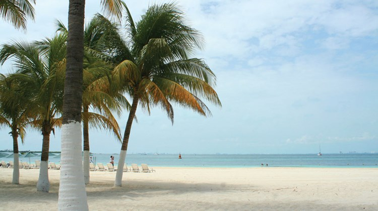 Playa Norte is located on the north end of Isla Mujeres.