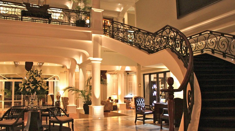 Entry area to Hemingways Nairobi, a new luxury property in the suburbs of Nairobi. It opened in 2013.