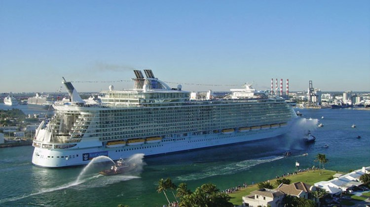 The arrival of the Oasis of the Seas at Port Everglades.