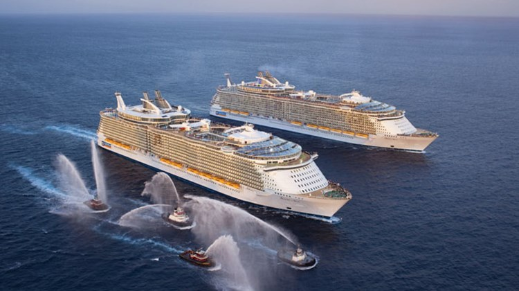 Royal Caribbean's Allure of the Seas and Oasis of the Seas.