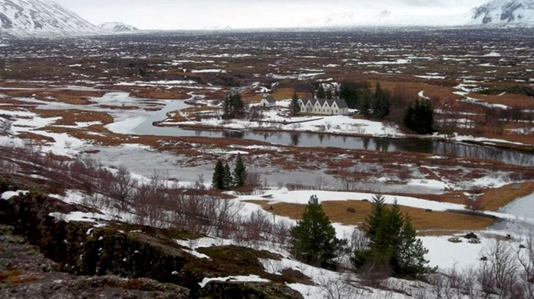 Thingvellir, a lowland area sitting on the geological fault line between Europe and North America, was the site of the world's first democratic assembly, Iceland's Althing, starting in 930 A.D.