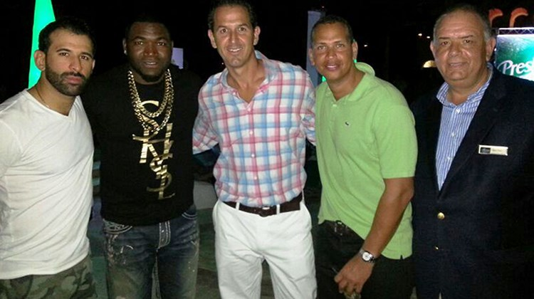 AlSol Sanctuary Cap Cana in the Dominican Republic hosted Boston Red Sox star David Ortiz's sixth annual Celebrity Golf Classic at the Punta Espada Golf Course in December. The event supported pediatric critical care in New England the Dominican Republic. Pictured, from left: Jose Bautista, Toronto Blue Jays; David Ortiz, Boston Red Sox; Carlos Del Pino, managing director, AlSol Hotels & Resorts; Alex Rodriguez, New York Yankees; and Ignacio Perez, area manager of AlSol's Cap Cana Properties.