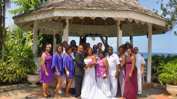 Travel agent Janice Brandon of Pro Travel Network in Lynwood, Ill., recently celebrated a ReTie the Knot vow-renewal ceremony with family and friends at Sandals Grande Riviera Beach & Villa Golf Resort after 25 years of marriage to her husband, Keith Brandon. Brandon and her husband never had a traditional wedding ceremony, as their marriage ceremony was performed by a justice of peace, so this celebration was particularly special for them, she said.