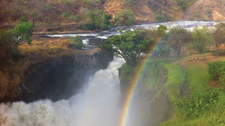Murchison Falls, where the Nile squeezes through a 20-foot opening before plunging 143 feet.