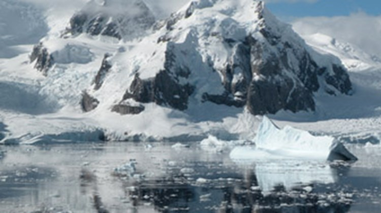 The views of Antarctica from the Fram while sailings between stops.